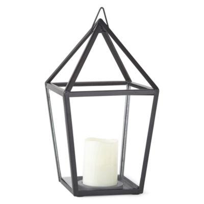 Outdoor Oasis Metal House Solar Outdoor Lantern