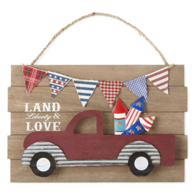 JCPenney Home Americana Truck Wall Sign