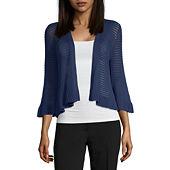 b0c7d9ab0 Liz Claiborne Womens Long Sleeve Open Front Cardigan