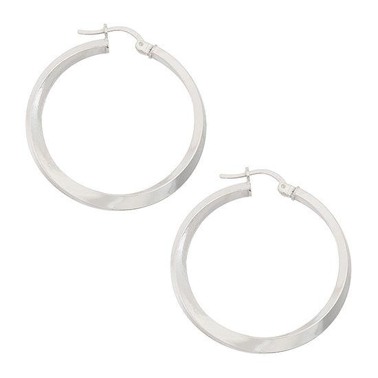 Sterling Silver 21.2mm Hoop Earrings
