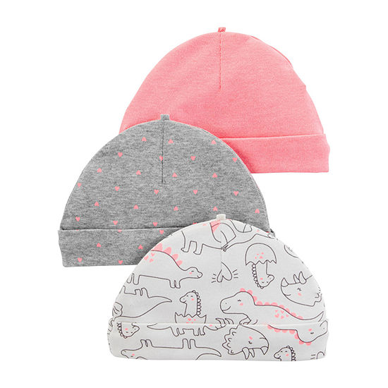 Carters Girls 3 Pc Baby Hat Baby