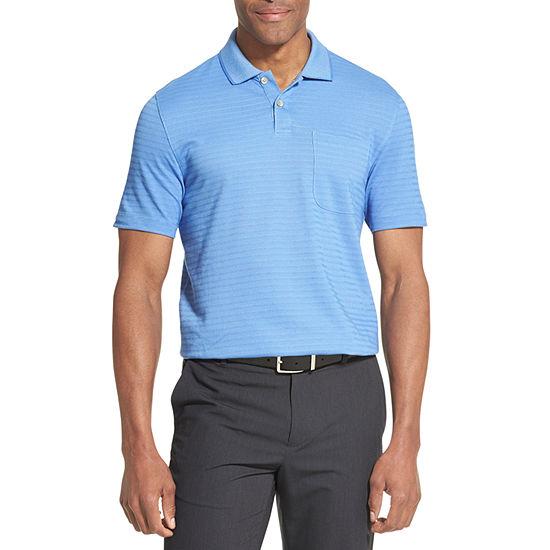 9ce23b7e35ac Van Heusen Van Heusen Flex Short Sleeve Jacquard Stripe Polo Short Sleeve  Stripe Knit Polo Shirt JCPenney