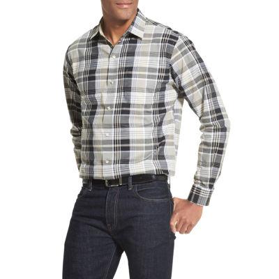 Van Heusen Air Long Sleeve Texture Button-Down Shirt