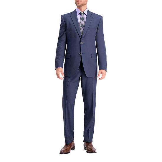 Haggar Travel Performance Solid Gab Tailored Fit Coat Stretch Suit Jacket