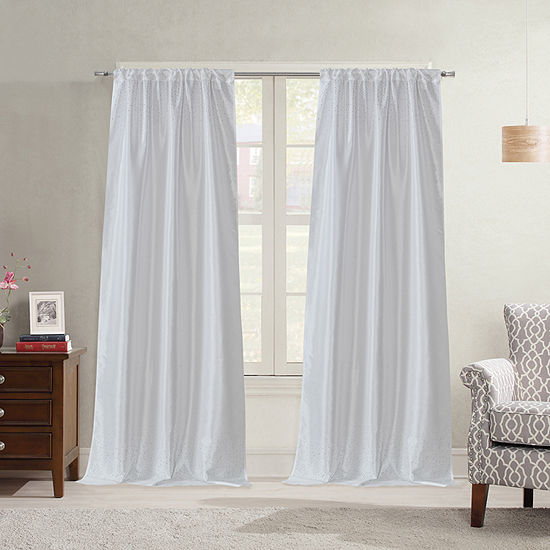Bella Valenti Jewel Cascade Light-Filtering Rod-Pocket Curtain Panel