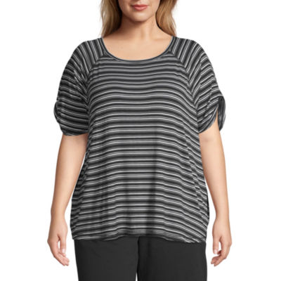 St. John's Bay Active Tie Sleeve Top - Plus