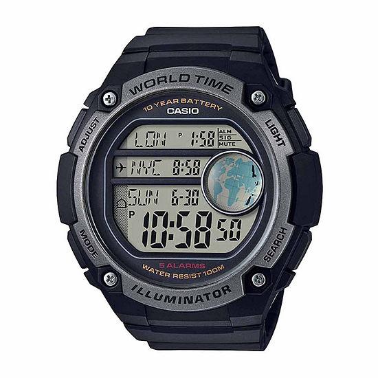 Casio Mens Black Strap Watch-Ae3000w-1av