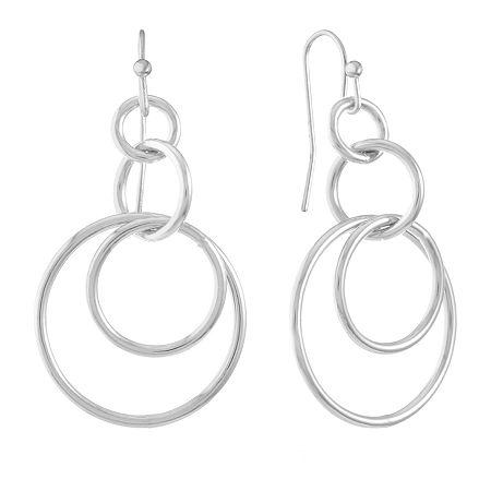 Liz Claiborne Drop Earrings, One Size , Silver