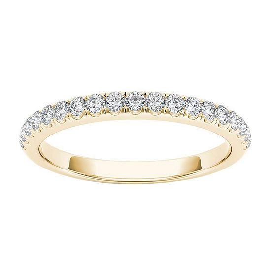 2 Mm 1/4 CT. T.W. Genuine White Diamond 10K Gold Wedding Band