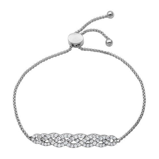DiamonArt®  Sterling Silver 6/7 CT. T.W. Cubic Zirconia Twist Bolo Bracelet