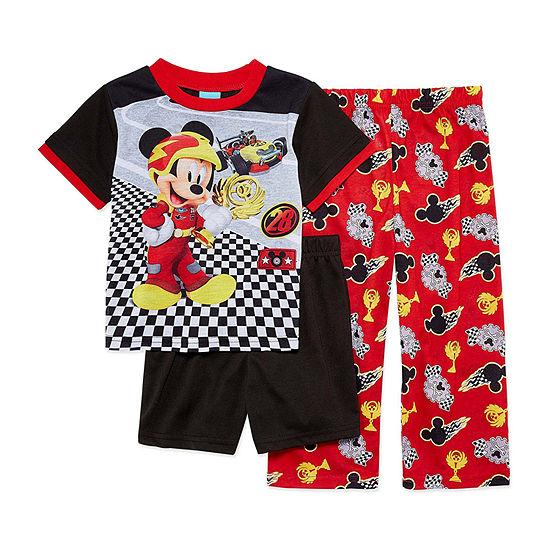 Disney Toddler Boys 3-pc. Mickey Mouse Pajama Set