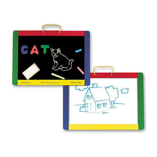 Melissa & Doug Magnetic Chalk & Dry Erase Boards