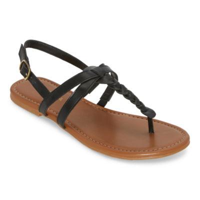 Arizona Womens Gibson Adjustable Strap Flat Sandals
