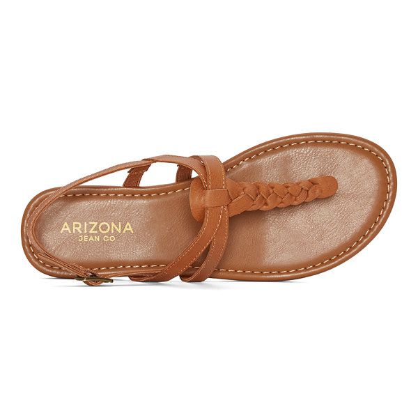 Arizona Womens Gibson Adjustable Strap Flat Sandals