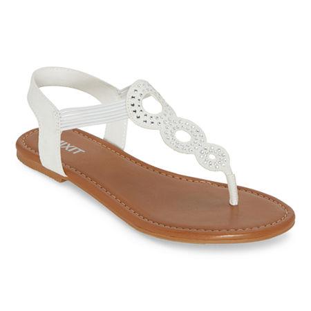 Vintage Shoes in Pictures | Shop Vintage Style Shoes Mixit Womens Glin Flat Sandals 7 12 Medium White $33.75 AT vintagedancer.com