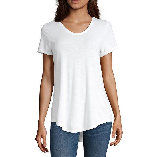 a.n.a-Womens Scoop Neck Short Sleeve T-Shirt
