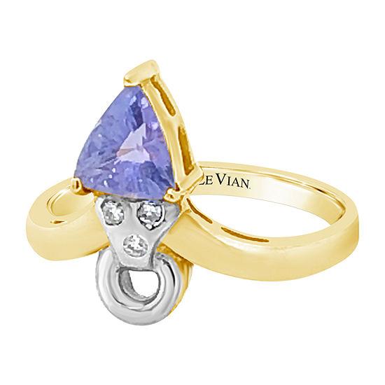 Le Vian Grand Sample Sale™ Ring featuring Blueberry Tanzanite® Vanilla Diamonds® set in 14K