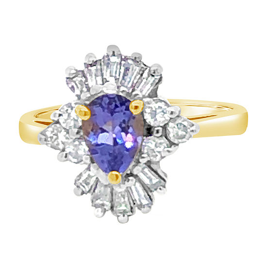 LIMITED QUANTITIES! Le Vian Grand Sample Sale™ Ring featuring Blueberry Tanzanite® 5/8 CT. T.W. Vanilla Diamonds® set in 14K