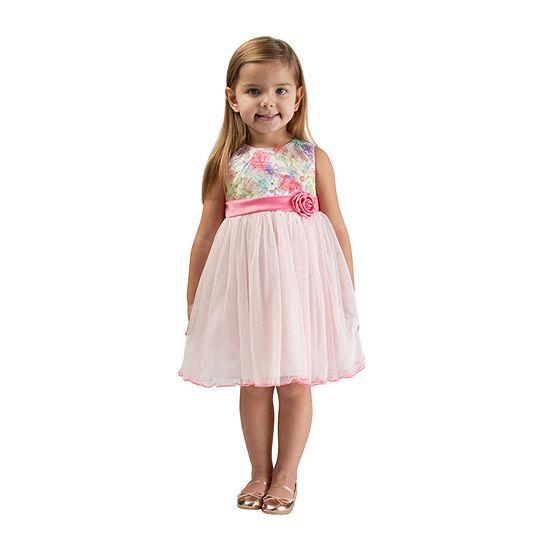Bonnie Jean - Toddler Girls Sleeveless Midi Party Dress