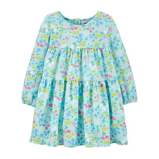 Carter's - Little & Big Girls Long Sleeve Shift Dress