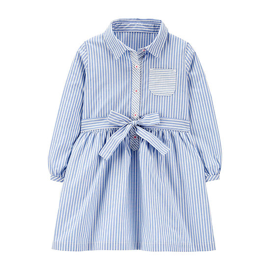 Carter's Toddler Girls Long Sleeve Shirt Dress