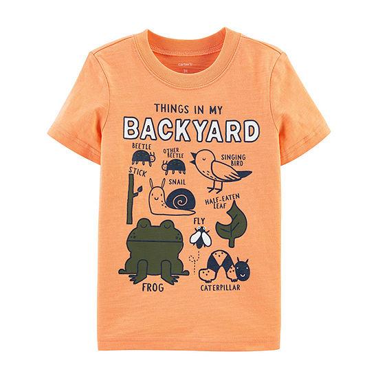 Carter's Toddler Boys Crew Neck Short Sleeve Graphic T-Shirt