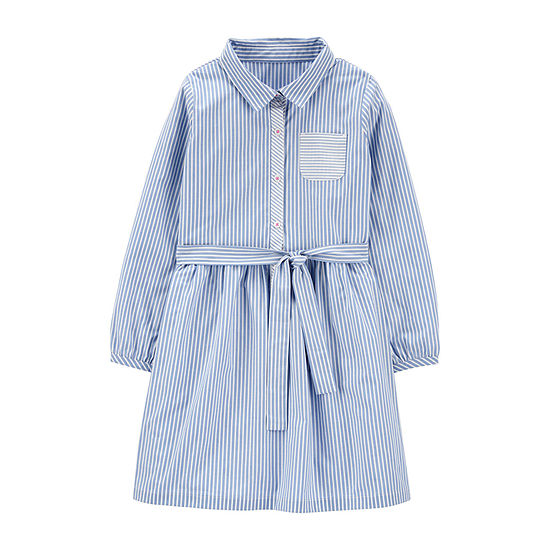 Carter's - Little Kid / Big Kid Girls Long Sleeve Shirt Dress