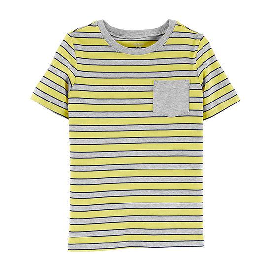 Carter's - Little Kid / Big Kid Boys Crew Neck Short Sleeve Graphic T-Shirt