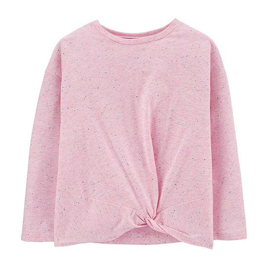Carter's Girls Crew Neck Long Sleeve T-Shirt Preschool / Big Kid