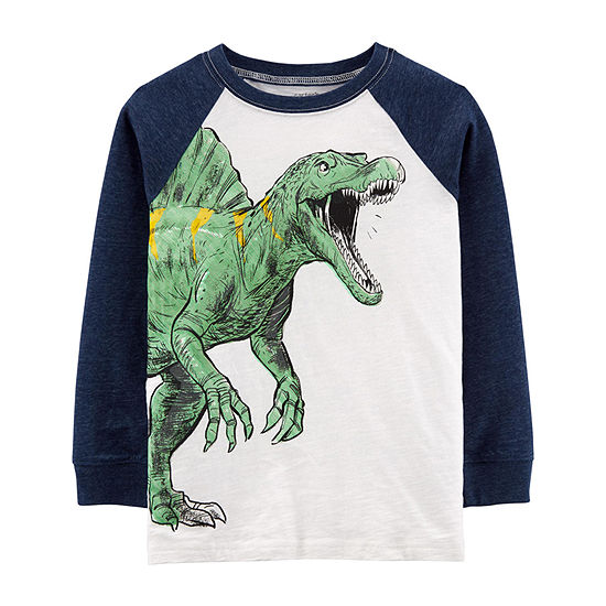Carter's Boys Crew Neck Long Sleeve Graphic T-Shirt - Preschool / Big Kid