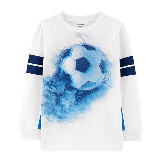 Carter's - Little Kid / Big Kid Boys Crew Neck Long Sleeve Graphic T-Shirt