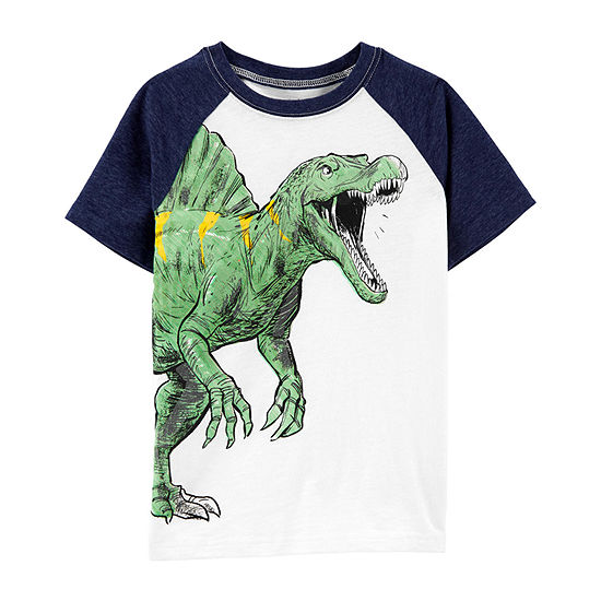 Carter's Boys Crew Neck Short Sleeve Graphic T-Shirt - Preschool / Big Kid