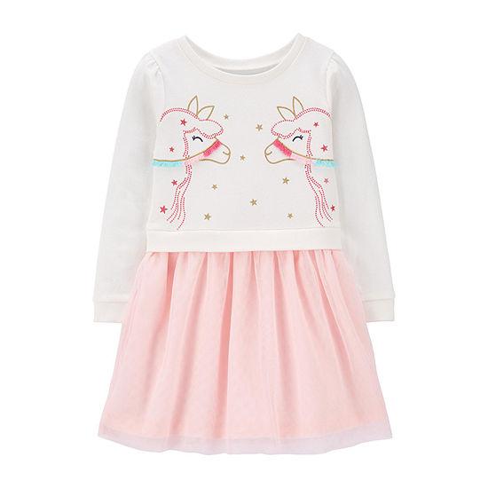 Carter's Toddler Girls 3/4 Sleeve A-Line Dress