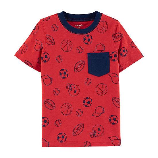 Carter's-Toddler Boys Crew Neck Short Sleeve Graphic T-Shirt