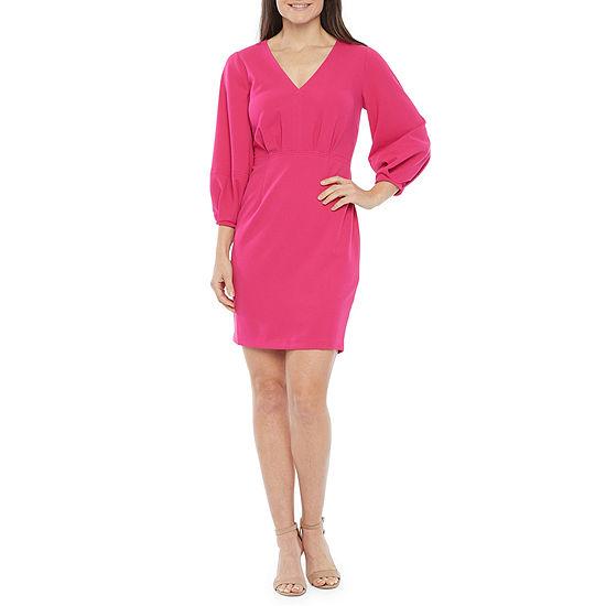 Ivy & Blue 3/4 Sleeve Sheath Dress