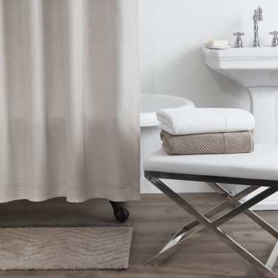 Fieldcrest Luxury Linen Blend Herringbone Shower Curtain