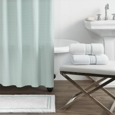 Fieldcrest Luxury Striped Matelasse Shower Curtain