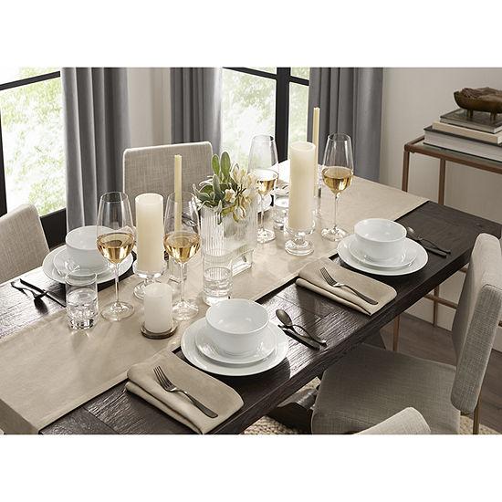 Fieldcrest Luxury Washed Linen Table Runner