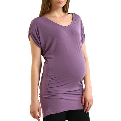 Momo Baby Short Sleeve Scoop Neck T-Shirt-Womens Maternity