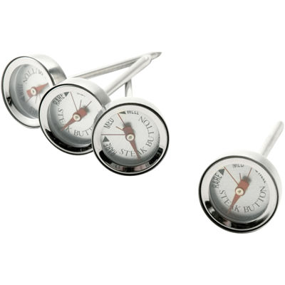Charcoal Companion® Set of 4 Reusable Steak-Button Thermometers