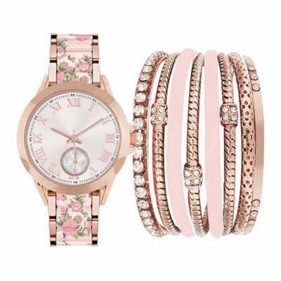 Fashion Watches Womens Rosegold and Blush Watch Boxed Set