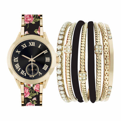 Fashion Watches Womens Black Watch Boxed Set