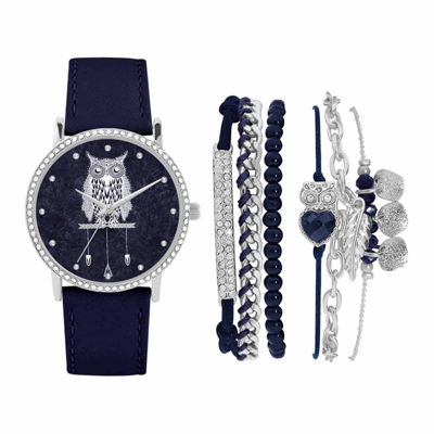 Fashion Watches Silver-Tone Womens Watch Boxed Set
