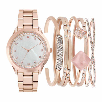 Womens Rose Goldtone 7-pc. Watch Boxed Set-Jc2011rg569-279