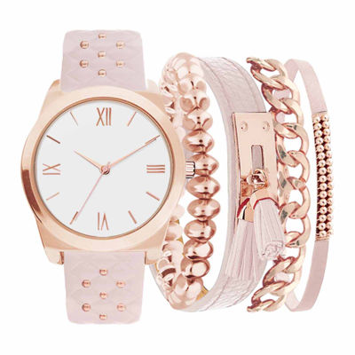 Womens Pink 5-pc. Watch Boxed Set-Jc2030rg569-968