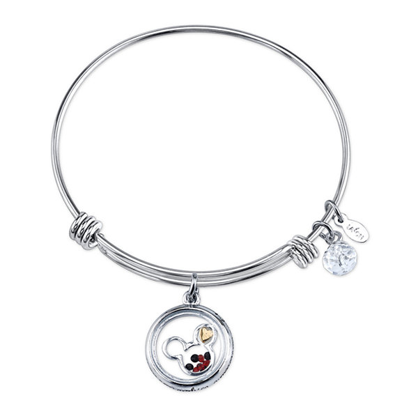 Disney Womens Mickey Mouse Silver Over Brass Charm Bracelet