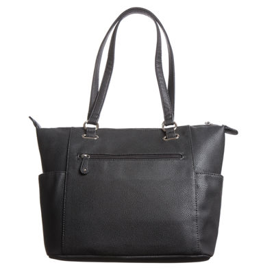 Stone And Co Talia Pebble Side Pocket Leather Computer Tote Bag