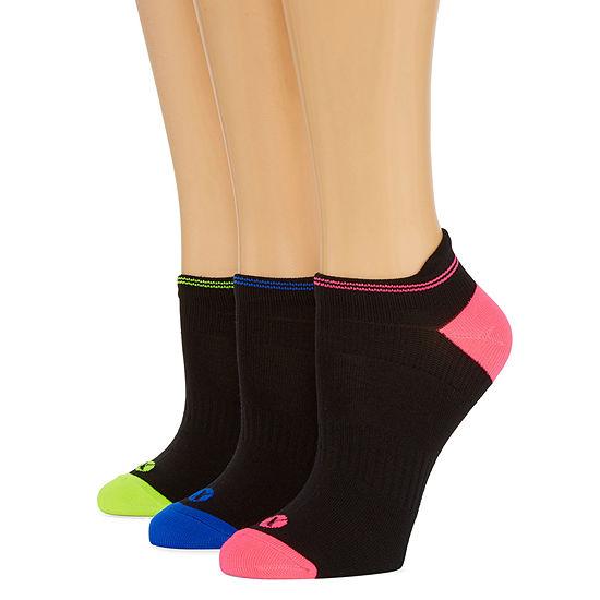 Xersion 3 Pair No Show Socks Womens