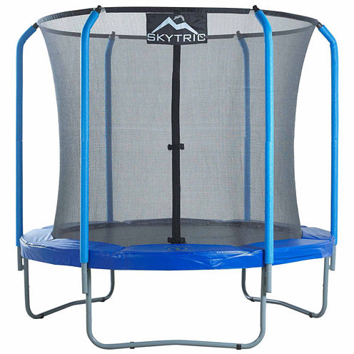 SKYTRIC 8 ft Trampoline with Top Ring Enclosure System