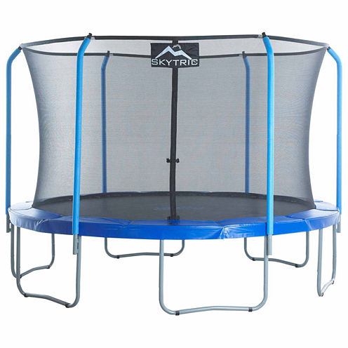 SKYTRIC 11 ft Trampoline with Top Ring Enclosure System
